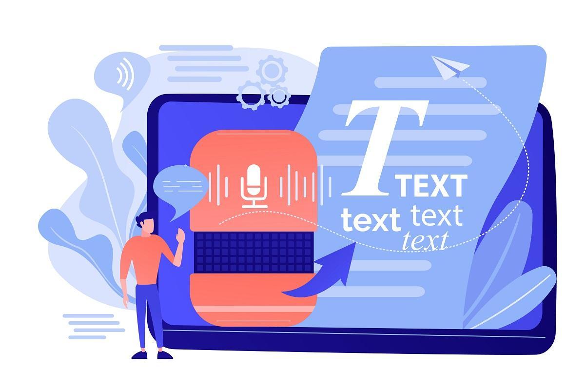 Speech To Text Concept Vector Illustration.